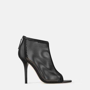 Zara wraparound mesh high heel sandals (1386)